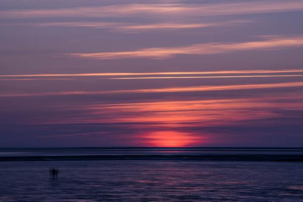 Lichtstimmung nach Sonnenuntergang am Meer