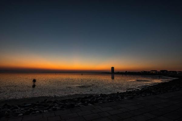 Restlicht nach Sonnenuntergang Büsumer Strand